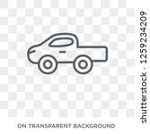pickup icon. pickup design... | Shutterstock .eps vector #1259234209