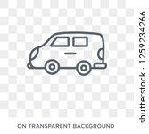 van icon. van design concept...