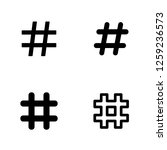 hashtag icons set. hash tag... | Shutterstock .eps vector #1259236573