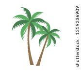 a palm tree vector set. | Shutterstock .eps vector #1259236909