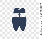 tooth filling icon. trendy... | Shutterstock .eps vector #1259237059