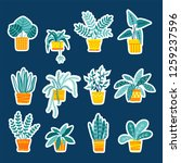 collection of stickers with... | Shutterstock .eps vector #1259237596