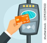 credit card nfc bus travel... | Shutterstock .eps vector #1259239033