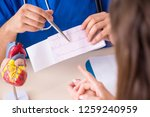 young patient visiting doctor... | Shutterstock . vector #1259240959