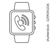 receive calling smartwatch icon.... | Shutterstock .eps vector #1259241226