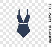 female bikini piece icon.... | Shutterstock .eps vector #1259244646
