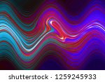 multicolor glowing twisted... | Shutterstock . vector #1259245933
