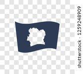 ivory coast flag icon. trendy...   Shutterstock .eps vector #1259248909