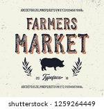 """farmers market"". original... | Shutterstock .eps vector #1259264449"