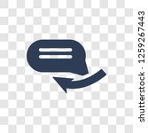 reply icon. trendy reply logo...   Shutterstock .eps vector #1259267443