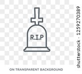 death icon. trendy flat vector... | Shutterstock .eps vector #1259270389