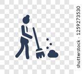 broom icon. trendy broom logo... | Shutterstock .eps vector #1259273530