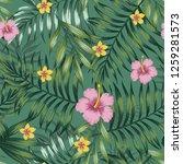 green tropical seamless pattern ... | Shutterstock .eps vector #1259281573