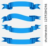 blue ribbon banners.blank... | Shutterstock .eps vector #1259284246