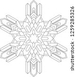 outlines of snowflake in mono... | Shutterstock .eps vector #1259285326