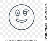 proud emoji icon. proud emoji... | Shutterstock .eps vector #1259286376