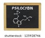 chemical formula of psilocybin... | Shutterstock . vector #125928746