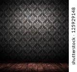 Dark Interior Room With Baroqu...