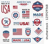 ,america,american,authentic,badge,banner,blue,decorative,design,design element,domestic,emblem,flag,graphic,hand drawn