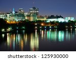 Ottawa At Night Over River With ...