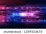 abstract digital technology... | Shutterstock .eps vector #1259313673