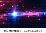 abstract speed technology... | Shutterstock .eps vector #1259313679