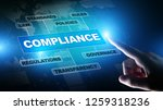compliance concept with icons...   Shutterstock . vector #1259318236