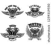 Set Of Biker Emblem Templates...