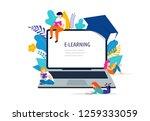 e learning concept illustration.... | Shutterstock .eps vector #1259333059