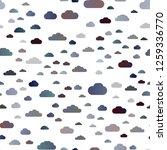 dark blue vector seamless... | Shutterstock .eps vector #1259336770