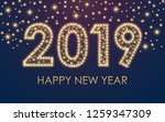 2019 happy new year greeting... | Shutterstock .eps vector #1259347309
