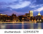 River Street At Twilight In...