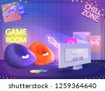 teen game room interior. play... | Shutterstock .eps vector #1259364640