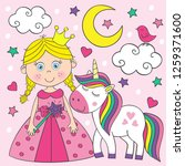 beautiful little princess  with ...   Shutterstock .eps vector #1259371600