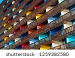 colorful building  colorful... | Shutterstock . vector #1259382580