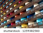 colorful building  colorful... | Shutterstock . vector #1259382583