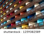 colorful building  colorful... | Shutterstock . vector #1259382589