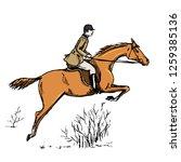 horseman horse rider. english... | Shutterstock .eps vector #1259385136