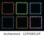 chalk or crayon hand drawing... | Shutterstock .eps vector #1259385139