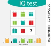 choose correct answer  iq test... | Shutterstock .eps vector #1259392720