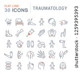 set of vector line icons of... | Shutterstock .eps vector #1259395393