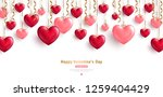 happy saint valentine's day... | Shutterstock .eps vector #1259404429
