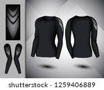 visual drawing set of elastic...   Shutterstock .eps vector #1259406889