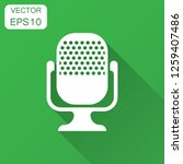 microphone icon in flat style....