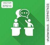 politic debate icon in flat... | Shutterstock .eps vector #1259407633