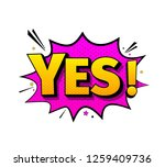 comic lettering yes. vector... | Shutterstock .eps vector #1259409736