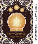 ornate vintage christmas...   Shutterstock . vector #1259412013
