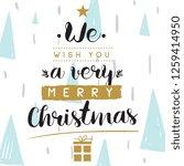 merry christmas. typography.... | Shutterstock .eps vector #1259414950