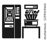 supermarket vending icon.... | Shutterstock .eps vector #1259419663