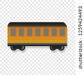 old passenger wagon icon.... | Shutterstock .eps vector #1259424493